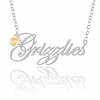 Oakland Golden Grizzlies Script Necklace with Gold Heart Accent