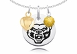 Oakland Grizzlies Necklace with Heart and Crystal Accents