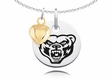 Oakland Golden Grizzlies Charm With Heart