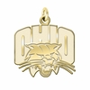 Ohio Bobcats 14K Yellow Gold Natural Finish Cut Out Logo Charm