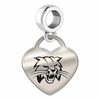 Ohio Bobcats Engraved Heart Dangle Charm