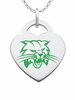 Ohio Bobcats Heart Pendant With Color