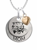 Ohio Bobcats MOM Necklace with Heart Charm