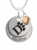 Ohio Dominican Panthers Alumni Necklace with Heart Accent