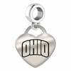 Ohio Bobcats Heart Dangle Charm