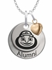 Ohio State Buckeyes Alumni Necklace with Heart Accent