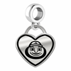Ohio State Buckeyes Border Heart Dangle Charm