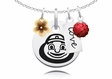Ohio State Buckeyes Cluster Necklace