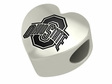 Ohio State Buckeyes Heart Shape Bead