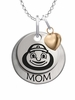 Ohio State Buckeyes MOM Necklace with Heart Charm