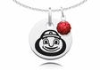 Ohio State Buckeyes Necklace with Crystal Ball Accent