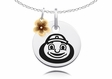 Ohio State Buckeyes Necklace with Flower Charm