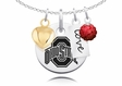 Ohio State Buckeyes Necklace With Heart, Color and Love