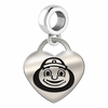 Ohio State Engraved Heart Dangle Charm