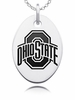 Ohio State Oval Engraved Charm