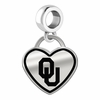Oklahoma Sooners Border Heart Dangle Charm