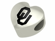 Oklahoma Sooners Heart Shape Bead