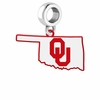Oklahoma Sooners Logo Dangle Charm