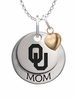 Oklahoma Sooners MOM Necklace with Heart Charm