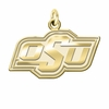 Oklahoma State Cowboys 14K Yellow Gold Natural Finish Cut Out Logo Charm