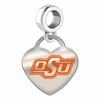Oklahoma State Cowboys Color Heart Dangle