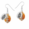 Oklahoma State Cowboys Crystal Football Earrings