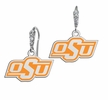 Oklahoma State Cowboys CZ Logo Earrings