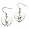 Oklahoma State Cowboys Heart Earrings