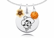 Oklahoma State Cowboys Necklace with Flower Charm