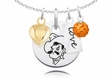 Oklahoma State Cowboys Necklace With Heart, Color and Love