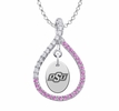 Oklahoma State Cowboys Pink CZ Figure 8 Necklace