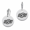 Oklahoma State Cowboys Round CZ Cluster Earrings