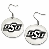 Oklahoma State Cowboys Satin Finished Disc Earrings
