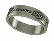 Oklahoma State Cowboys Stainless Steel Ring