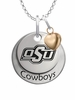Oklahoma State Cowboys with Heart Accent