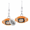 Oklahoma State Crystal Football Earrings