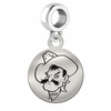 Oklahoma State Round Dangle Charm