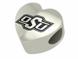 Oklahoma State Cowboys Heart Shape Bead