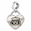Old Dominion Engraved Heart Dangle Charm