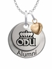 Old Dominion Monarchs Alumni Necklace with Heart Accent
