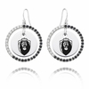 Old Dominion Monarchs Black and White CZ Circle Earrings
