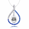 Old Dominion Monarchs Blue CZ Figure 8 Necklace