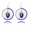 Old Dominion Monarchs Color CZ Circle Earrings