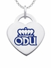 Old Dominion Monarchs Color Logo Heart Charm