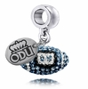 Old Dominion Monarchs Crystal Drop Charm