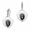Old Dominion Monarchs CZ Cluster Heart Earrings