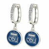 Old Dominion Monarchs CZ Hoop Earrings
