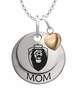 Old Dominion Monarchs MOM Necklace with Heart Charm