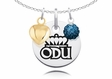 Old Dominion Monarchs Necklace with Heart and Crystal Accents