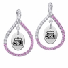 Old Dominion Monarchs Pink CZ Figure 8 Earrings
